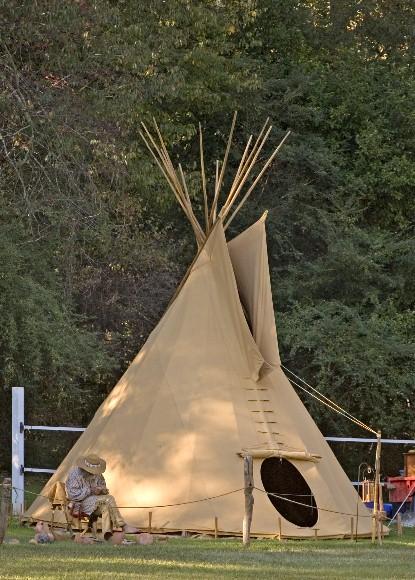 4m tipi indianerzelt wigwam indianer zelt jurte tepee indianertipi ebay. Black Bedroom Furniture Sets. Home Design Ideas